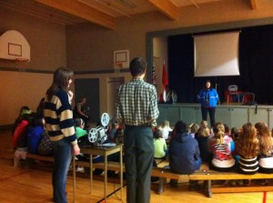 Sharing Super8 with elementary students in Pender Harbour, British Columbia